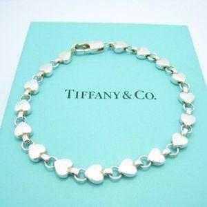 Tiffany & Co. Silver Chain Of Hearts Link Bracelet